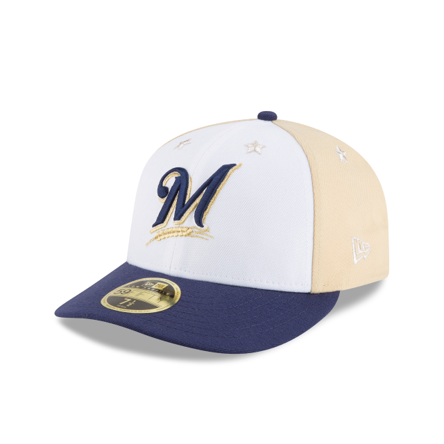 MILWAUKEE BREWERS ALL STAR GAME LOW PROFILE 59FIFTY FITTED 3 quarter left view