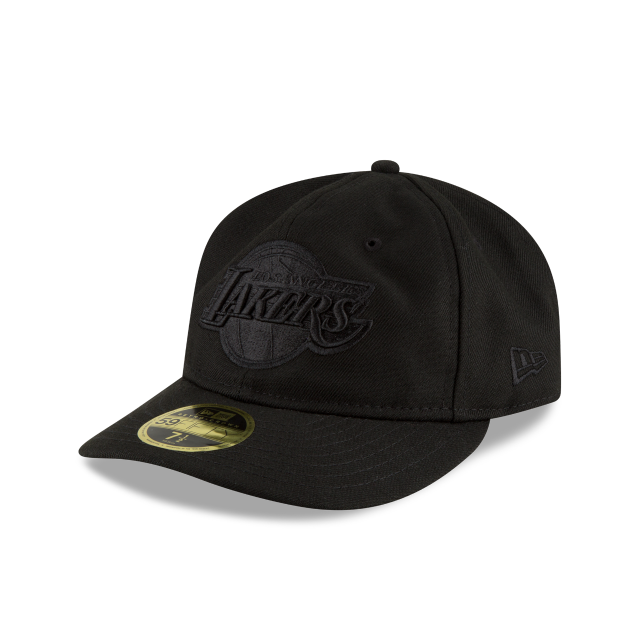 LOS ANGELES LAKERS FAN FIT RETRO CROWN BLACK 59FIFTY FITTED 3 quarter left view
