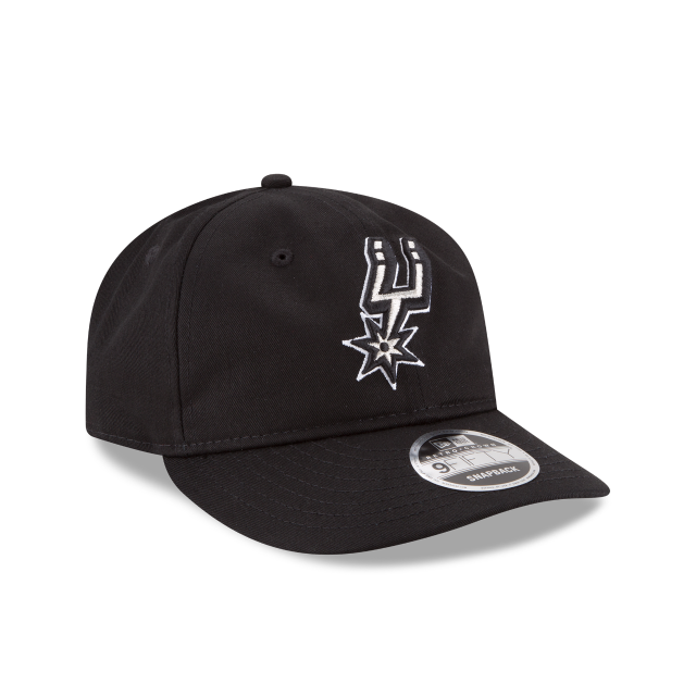 SAN ANTONIO SPURS TEAM CHOICE RETRO CROWN 9FIFTY SNAPBACK 3 quarter right view