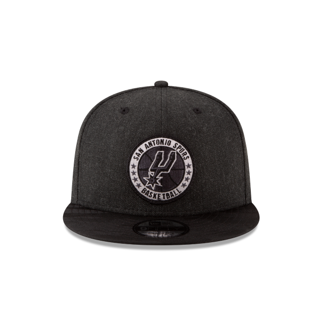 SAN ANTONIO SPURS 2018 NBA AUTHENTICS: TIP OFF SERIES BLACK 9FIFTY SNAPBACK Front view