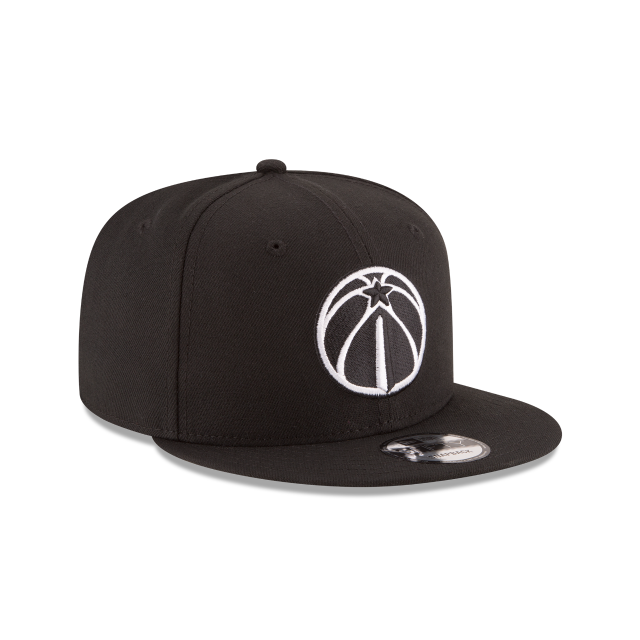 WASHINGTON WIZARDS BASIC BLACK 9FIFTY SNAPBACK 3 quarter right view