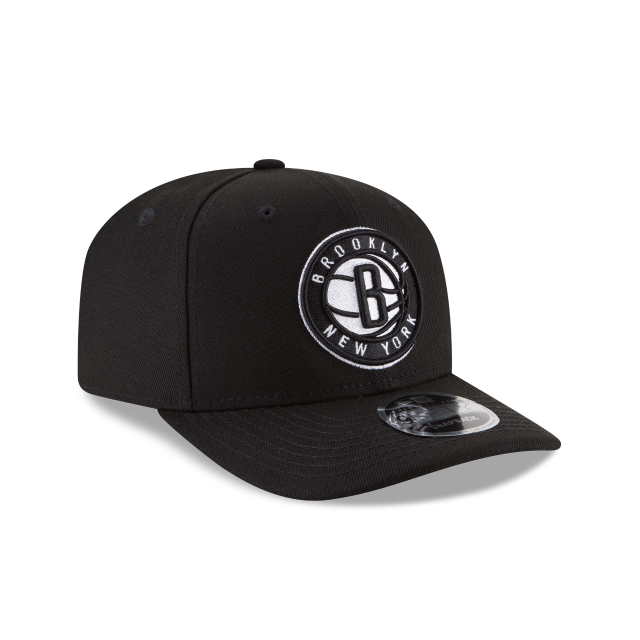 BROOKLYN NETS CROWN SOLID ORIGINAL FIT 9FIFTY SNAPBACK 3 quarter right view