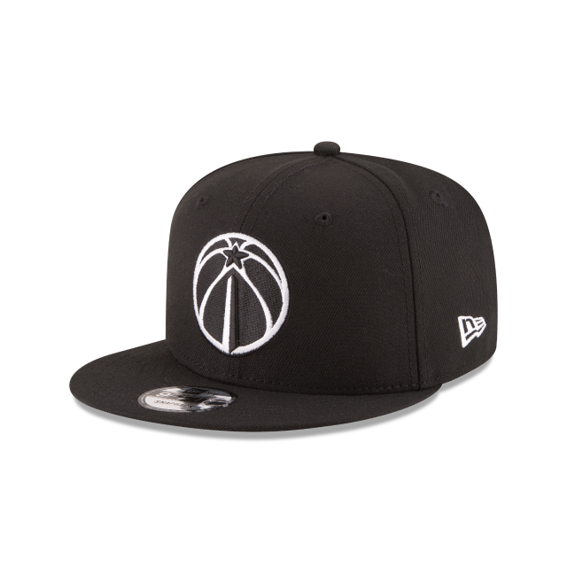 WASHINGTON WIZARDS BASIC BLACK 9FIFTY SNAPBACK 3 quarter left view