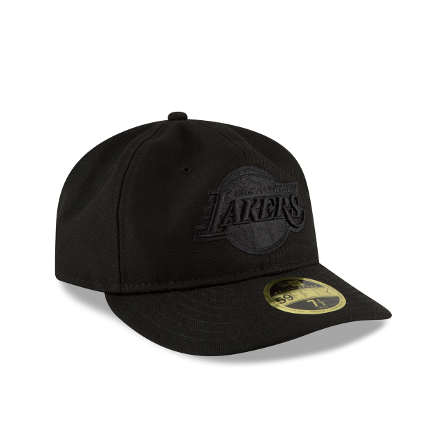 LOS ANGELES LAKERS FAN FIT RETRO CROWN BLACK 59FIFTY FITTED 3 quarter right view
