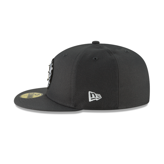 BROOKLYN NETS METAL AND THREAD 59FIFTY FITTED Left side view