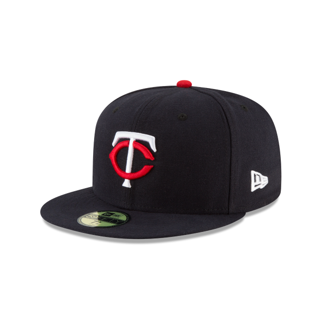 MINNESOTA TWINS AUTHENTIC COLLECTION 59FIFTY FITTED 3 quarter left view