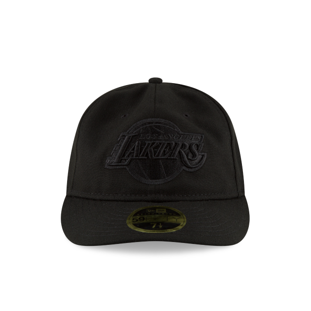 LOS ANGELES LAKERS FAN FIT RETRO CROWN BLACK 59FIFTY FITTED Front view