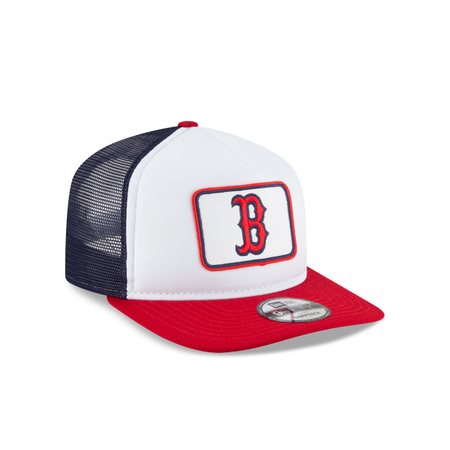 BOSTON RED SOX TRUCKER TEAM PRIDE 9FIFTY SNAPBACK 3 quarter right view 46bbcc41c4b
