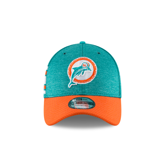 a8084b511 ... 3 quarter left view. MIAMI DOLPHINS CLASSIC LOGO SIDELINE HOME 39THIRTY  STRETCH FIT Front view