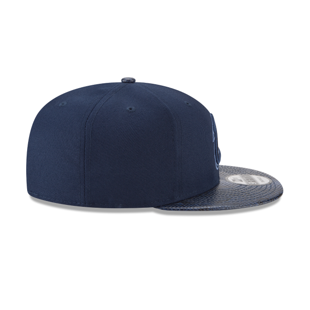 CLEVELAND CAVALIERS SNAKESKIN BLUE 9FIFTY SNAPBACK Right side view