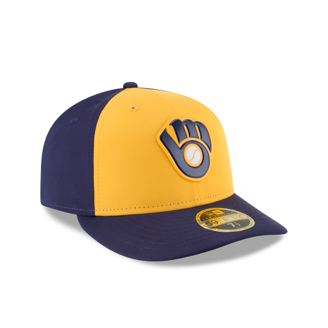 MILWAUKEE BREWERS ALTERNATE MLB BATTING PRACTICE PROLIGHT LOW PROFILE 59FIFTY FITTED 3 quarter right view