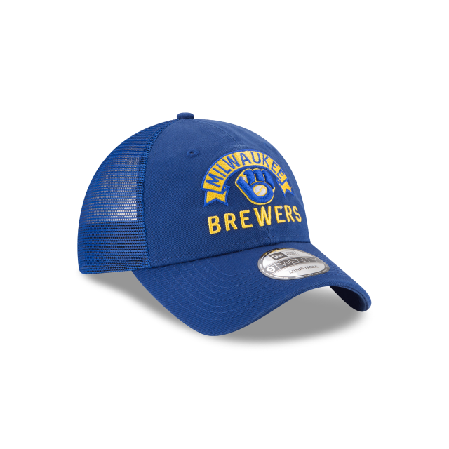 MILWAUKEE BREWERS STACKED CLASSIC 9TWENTY ADJUSTABLE 3 quarter right view
