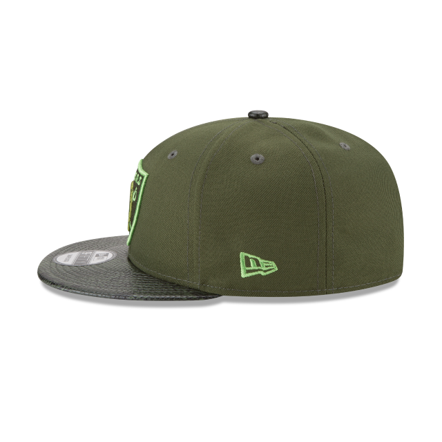 OAKLAND RAIDERS SNAKESKIN GREEN 9FIFTY SNAPBACK Left side view