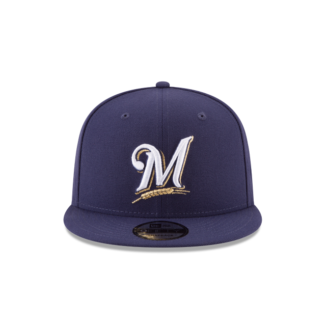 MILWAUKEE BREWERS POSTSEASON SIDE PATCH BASIC 9FIFTY SNAPBACK Front view