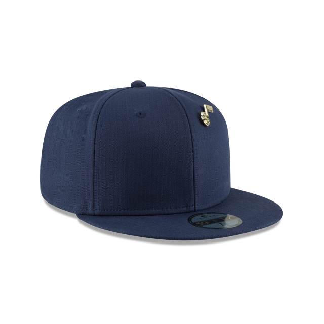 UTAH JAZZ ESSENTIAL PIN 59FIFTY FITTED 3 quarter right view