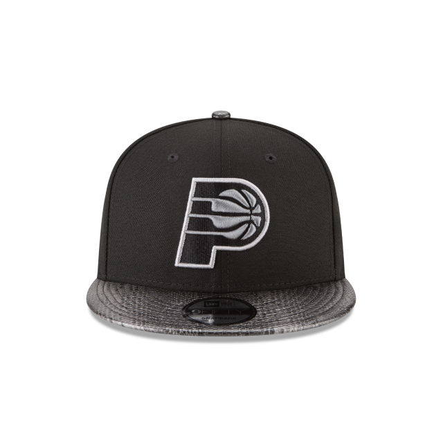 INDIANA PACERS SNAKESKIN BLACK 9FIFTY SNAPBACK Front view