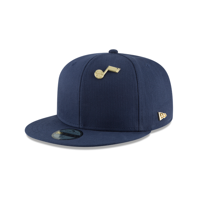 UTAH JAZZ ESSENTIAL PIN 59FIFTY FITTED 3 quarter left view