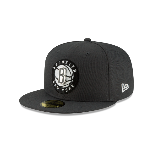BROOKLYN NETS METAL AND THREAD 59FIFTY FITTED 3 quarter left view