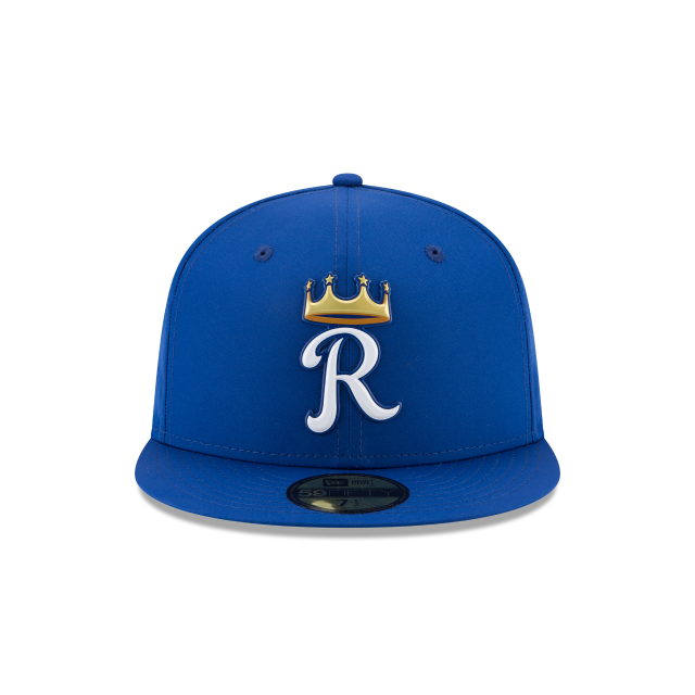 KIDS KANSAS CITY ROYALS BATTING PRACTICE PROLIGHT 59FIFTY FITTED Front view