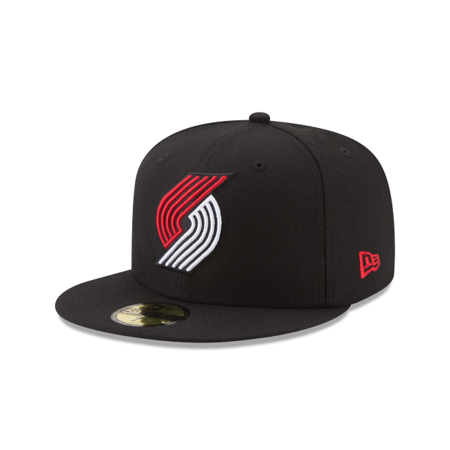 PORTLAND TRAILBLAZERS TEAM COLOR 59FIFTY FITTED 3 quarter left view