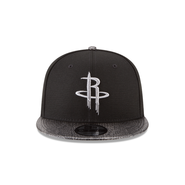 HOUSTON ROCKETS SNAKESKIN BLACK 9FIFTY SNAPBACK Front view