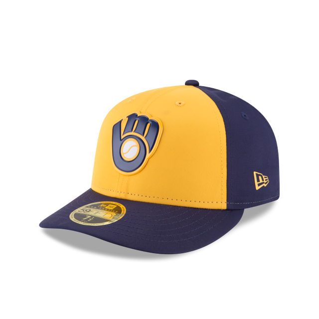 MILWAUKEE BREWERS ALTERNATE MLB BATTING PRACTICE PROLIGHT LOW PROFILE 59FIFTY FITTED 3 quarter left view