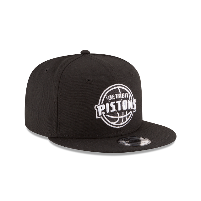 DETROIT PISTONS BASIC BLACK 9FIFTY SNAPBACK 3 quarter right view