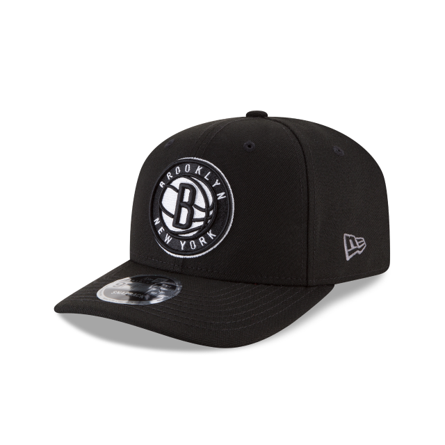 BROOKLYN NETS CROWN SOLID ORIGINAL FIT 9FIFTY SNAPBACK 3 quarter left view