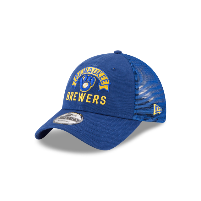 MILWAUKEE BREWERS STACKED CLASSIC 9TWENTY ADJUSTABLE 3 quarter left view