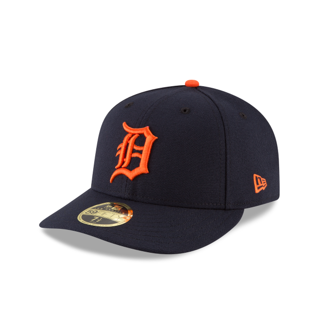 DETROIT TIGERS LOW PROFILE ROAD AC 59FIFTY FITTED 3 quarter left view