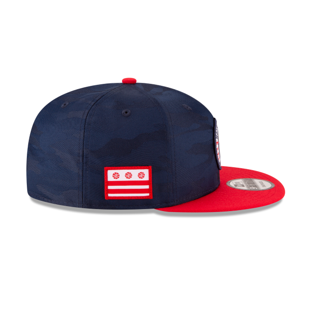 WASHINGTON WIZARDS 2018 NBA AUTHENTICS: TIP OFF SERIES TWO-TONE 9FIFTY SNAPBACK Right side view