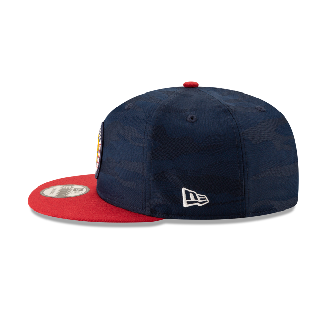DENVER NUGGETS 2018 NBA AUTHENTICS: TIP OFF SERIES TWO-TONE 9FIFTY SNAPBACK Left side view