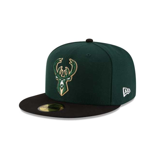 MILWAUKEE BUCKS 2TONE 59FIFTY FITTED 3 quarter left view