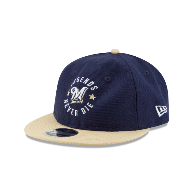 MILWAUKEE BREWERS SANDLOT LND RETRO CROWN 9FIFTY SNAPBACK 3 quarter left view