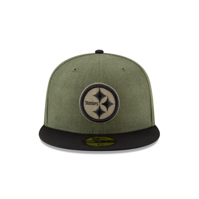 d25221d36 ... Hat by  PITTSBURGH STEELERS SALUTE TO SERVICE KIDS 59FIFTY FITTED Front  view ...