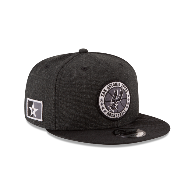 SAN ANTONIO SPURS 2018 NBA AUTHENTICS: TIP OFF SERIES BLACK 9FIFTY SNAPBACK 3 quarter right view