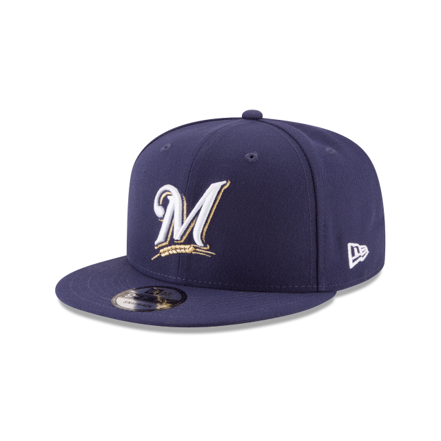 MILWAUKEE BREWERS POSTSEASON SIDE PATCH BASIC 9FIFTY SNAPBACK 3 quarter left view