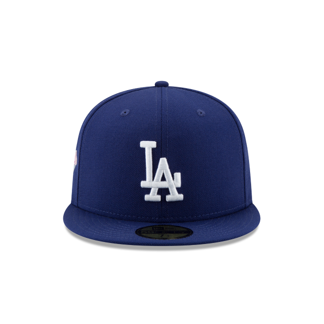 a5f48a29e93 Los Angeles Dodgers Crystals From Swarovski World Series Patch 59fifty  Fitted
