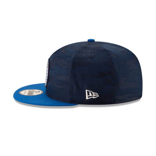 DALLAS MAVERICKS 2018 NBA AUTHENTICS: TIP OFF SERIES TWO-TONE 9FIFTY SNAPBACK Left side view