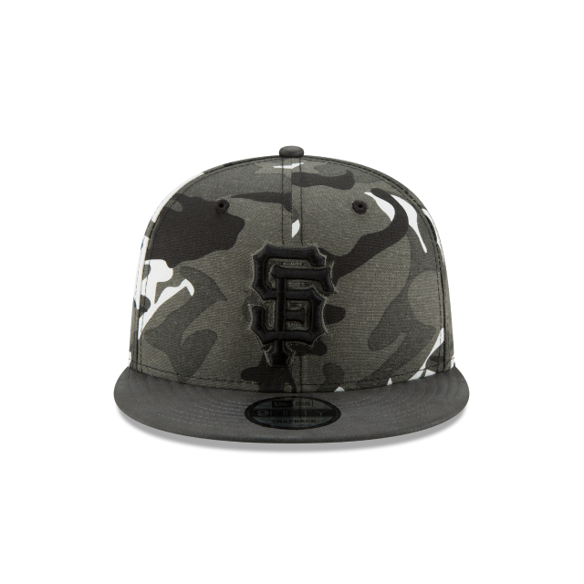 SAN FRANCISCO GIANTS SUEDED UP CAMO 9FIFTY SNAPBACK Front view