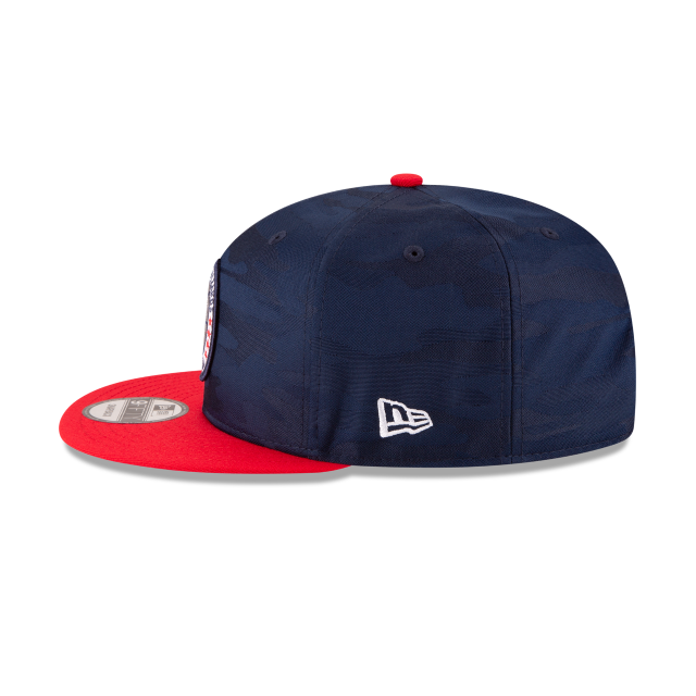 WASHINGTON WIZARDS 2018 NBA AUTHENTICS: TIP OFF SERIES TWO-TONE 9FIFTY SNAPBACK Left side view