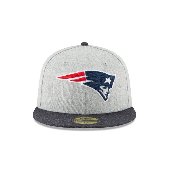 New England Patriots Heather Crisp 59fifty Fitted New England
