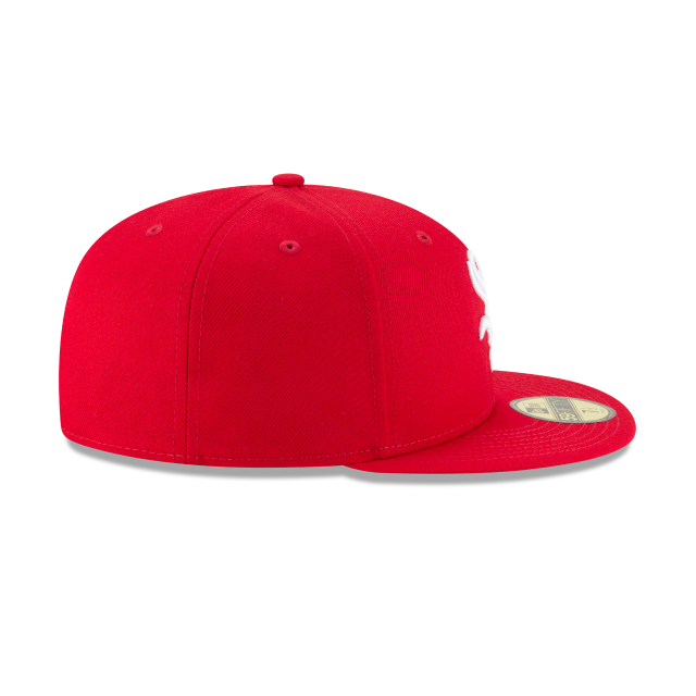 CHICAGO WHITE SOX SCARLET BASIC 59FIFTY FITTED Right side view