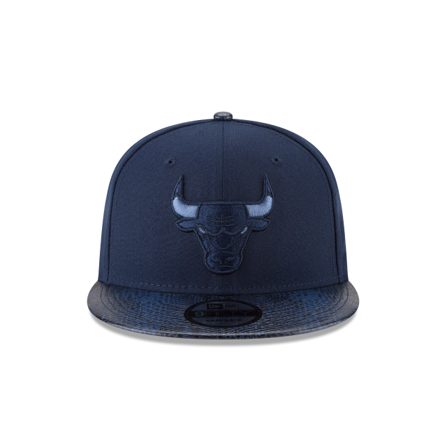CHICAGO BULLS SNAKESKIN BLUE 9FIFTY SNAPBACK Front view