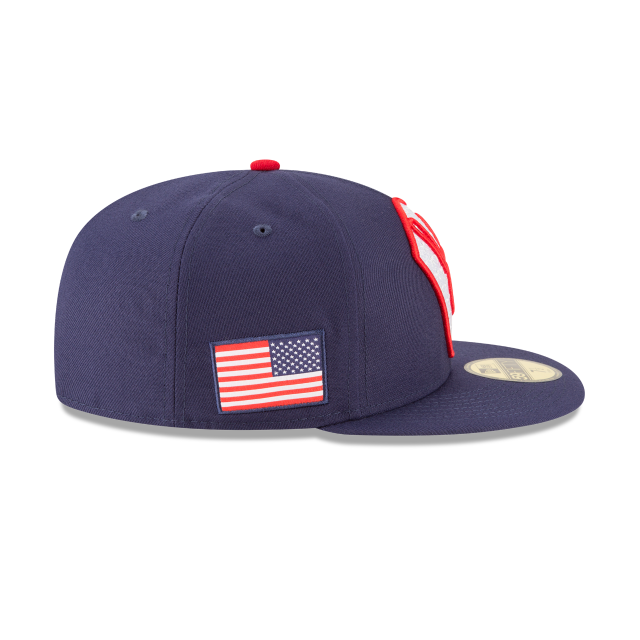 MILWAUKEE BREWERS PATRIOTIC TURN 59FIFTY FITTED Right side view