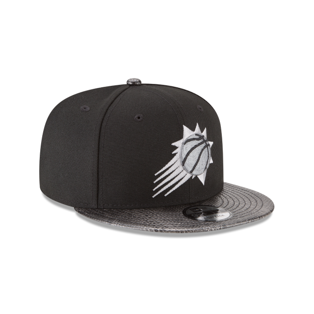 PHOENIX SUNS SNAKESKIN BLACK 9FIFTY SNAPBACK 3 quarter right view