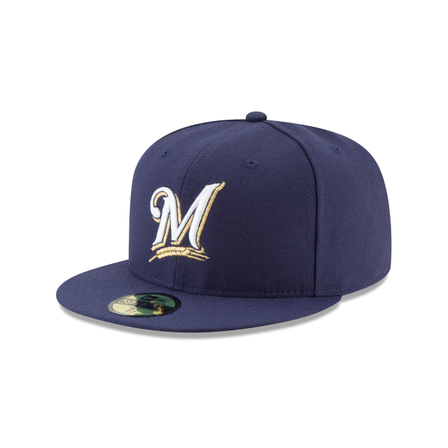 MILWAUKEE BREWERS AUTHENTIC COLLECTION 59FIFTY FITTED 3 quarter left view
