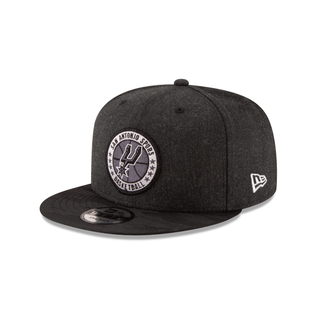SAN ANTONIO SPURS 2018 NBA AUTHENTICS: TIP OFF SERIES BLACK 9FIFTY SNAPBACK 3 quarter left view