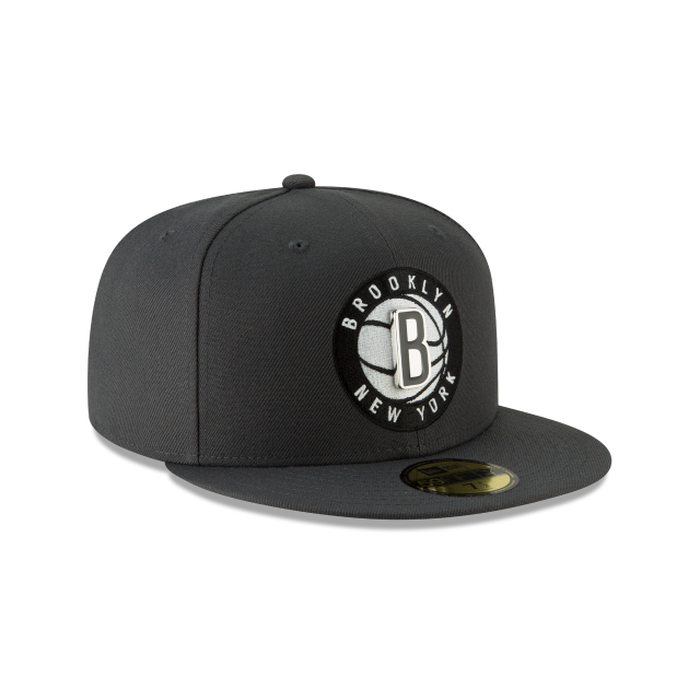 BROOKLYN NETS METAL AND THREAD 59FIFTY FITTED 3 quarter right view