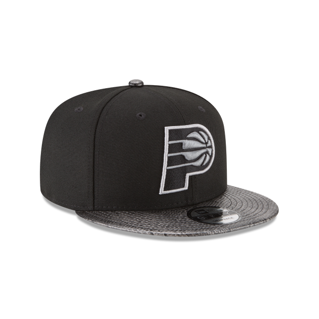 INDIANA PACERS SNAKESKIN BLACK 9FIFTY SNAPBACK 3 quarter right view
